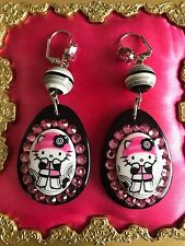 Tarina Tarantino Pink Head Collection Hello Kitty Gothic Lolita Cyber Earrings