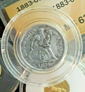 1875 U.S 10 CENTS SILVER COIN DIME