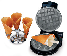 Waffle cone maker machine baker iron ice cream Express 838 electric nonstick