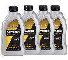 Genuine Kawasaki 10W40 Synthetic 4 Stroke Motorcycle Oil 4-Pack