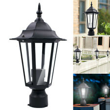 Post Pole Light Outdoor Garden Patio Driveway Yard Lantern Lamp Fixture Black SO
