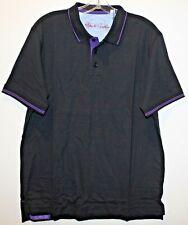 Robert Graham Mens Size S Black Cotton Classic Fit Polo Shirt NWT $98 Size S