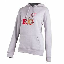 Realtree Girl RTG Womens Large Hannah Hoodie Heather Gray / AP Red Camo Logo NEW