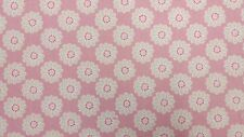 Clarke and Clarke Daisy Pink Designer Curtain Upholstery Fabric