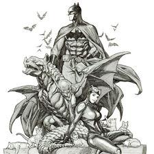 "BATMAN #48 Catwoman ART PRINT Signed FRANK CHO Variant Cover SDCC 17x11"" NEW"