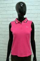 Polo LOTTO Donna Taglia Size M Maglia Maglietta Camicia Shirt Woman Cotone Rosa
