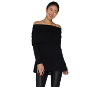 Lisa Rinna Collection Off the Shoulder Top Black Color Size XS
