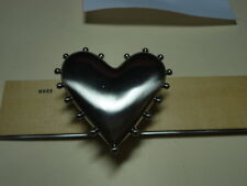 HEART DIMENSIONAL DRAWER PULL/COTTAGE BEACH HOME BAR-WARE HOUSE DECOR