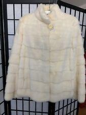 Ivory mink fur coats for women Medium Size