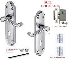 Polished Chrome Lock Scroll Door Handles Ashford Ashworth Style Door Handles D1