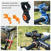 360° Rotate Cycling Bike Handlebar Bracket Flash light Lamp Mount Holder CBY