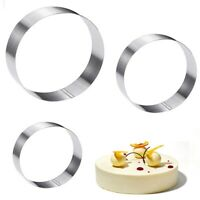 Large Round Cake Ring Set-4/6/8Inch Biscuit Cutter Stainless Steel  Circle