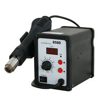 858D 700W Electric Hot Air Heat Gun Soldering Station Desoldering Tool LED