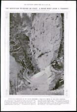 1916 antica stampa-Alpi Montagna GUERRA CORDEVOLE superiore (196)