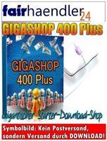 GIGASHOP 400 PLUS Starter Download Shop Webshop 300 Scripte eBooks MRR