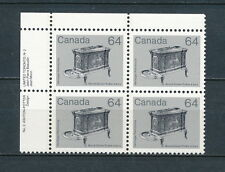 Canada #932i  MNH Plate Block, 64c Stove,1984 Printings