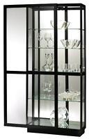 Howard Miller 680-572 Jayden III - Curio Cabinet with Gloss Black Finish 680572