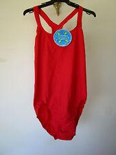 Ladies Speedo Endurance Medalist Red Swimsuit Size 22
