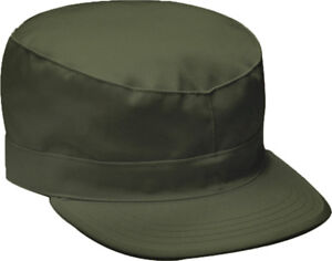 Military Fatigue Cap Fitted Tactical Uniform Camo Hat Army Field Patrol Hunting