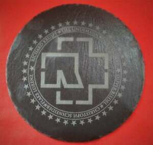 Rammstein Round logo Board Slate / Pizarra Aprox measure 25cm