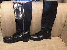 Women's Merona knee high zipper black boots size 7.5