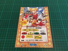 Kit Flyers Snk Neo Geo MVS Borne Arcade Jamma Artset Top Hunter Original