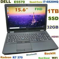# (3D-Design) DELL E5570 i7-6820HQ 1TB SSD 32GB 15.6 FHD Radeon R7 Backlit HDMI
