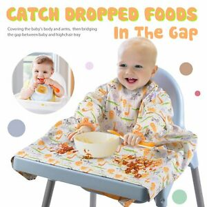 2 × Baby All Full Cover Bibs Baby Weaning Waterproof Bib Apron to Any Highchairs