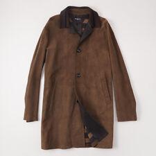 NWT $8995 KITON NAPOLI Lambskin Suede and Leather 3/4 Length Coat 50 (M) Jacket