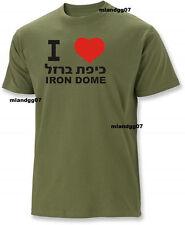 I love Iron Dome Support Israel T-Shirt IDF Zahal Hebrew Shirt SIZES S-2XL