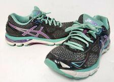 Asics T550N GT-2000 3 Women's Running Shoe Size US 7 Black Purple Blue Green