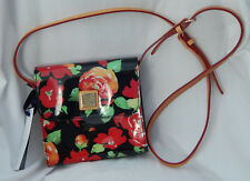 Dooney & Bourke Floral Vinyl Crossbody Bag in Black, RE345 BL, New with Tags