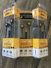 3 X Groove Earmoji's Stereo Earphones(2 X Cheeky Eyes Face & 1x Heart Eyes Face)