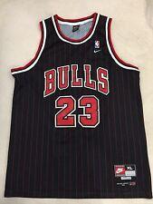 RARE🔥 Nike NBA Chicago Bulls Michael Jordan Flight 8403 Pinstripe Jersey Sz XL