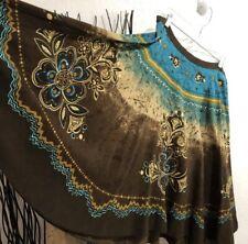 Kaktus Full Sequinned Boho Skirt Size L