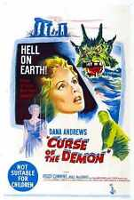 Curse Of Demon Poster 05 Metal Sign A4 12x8 Aluminium
