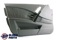 BMW 5 Series E60 E61 1 Door Card Lining Leather Trim Panel Front Left N/S Grey