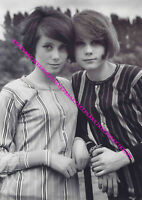 YOUNG ACTRESS CATHERINE DENEUVE AND HER SISTER FRANCOISE DORLEAC A-CDEN