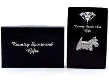 Scottish Terrier English Pewter Lapel Pin Badge Hand Made - Gift Box Scottie Dog