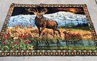 """VINTAGE  Elk/Deer Meadowlands TAPESTRY 71.5""""x49"""""""