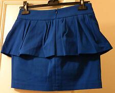 Gonna con balza petrolio ZARA dark blue-green peplum skirt Size M