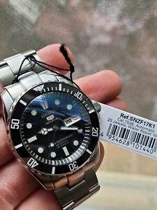 Seiko 5 Submariner (SNZF17K1) Watch - Automatic, Ceramic Bezel, Sapphire, Etc