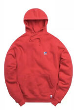 KITH X RUSSELL ATHLETIC VARSITY LOGO HoodIe Ribbon Red Classic Size Medium