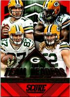 2015 Score Team Leaders Red Football Card #13 Rodgers Lacy Nelson Matthews