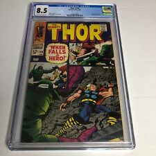 Thor #149 CGC 8.5 OW/W Pages Marvel Comics 1968 Wrecker Appearance Inhumans