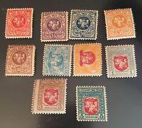 1919, Lithuania, 30    31    32-33    34-39, mint