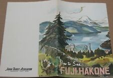 Vintage c.1960's Japan Travel Brochure - How to See Fuji, Hakone