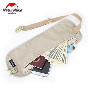 Money Belt Travel Pouch Zipped Waist Bum Belt Bag Security Money Ticket Passport