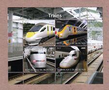 High Speed Trains Tren, Zug MNH Minisheet of 4 q25-10