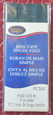 """4yd Single Fold Bias Tape 1/2"""" Wrights PC200 Variety Choose Brown Green or Mauve"""